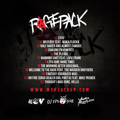 &quot;Rage Pack&quot; Album by Machine Gun Kelly (Back Cover)