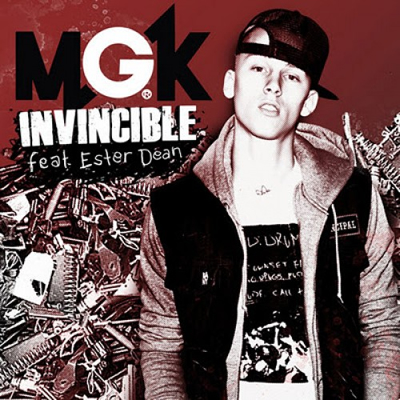 """Invincible"" by Machine Gun Kelly featuring Ester Dean (Single Cover)"
