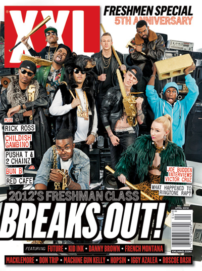 "XXL 2012 ""Freshmen Class"" Cover with Machine Gun Kelly and French Montana"