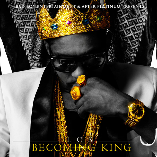 """Becoming King"" Mixtape by Los (Front Cover)"