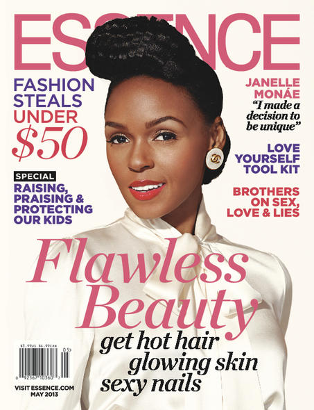 Janelle Monae on the COver of Essence Magazine's May 2013 Issue